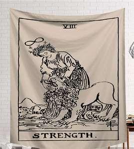 Image 1 - CAMMITEVER Power God Tapestry High Quality Fabric Wall Carpet Table Cloth Beach Cloth Dark Constellation Shawl/Blanket