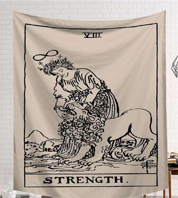 CAMMITEVER Power God Tapestry High Quality Fabric Wall Carpet Table Cloth Beach Cloth Dark Constellation Shawl/Blanket