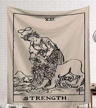 CAMMITEVER Power God Tapestry Hoge Kwaliteit Stof Muur Tapijt Tafelkleed Strand Doek Dark Constellation Sjaal/Deken