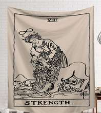 Cammitever potência deus tapeçaria alta qualidade tecido tapete de parede pano de mesa praia dark constellation xale/cobertor