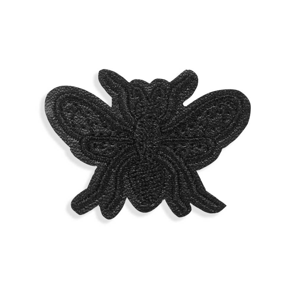 3 PCS/1 set (20 pcs) nuovo Star Vestiti Ricamato Patch In Pelle Nero Anno di Ferro-on Badge Sticker Appliques Nero di Patch In Pelle