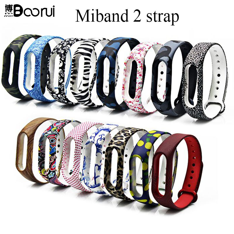 BOORUI New Mi Band 2 Bracelet Strap Miband 2 Strap Colorful Replacement  Silicone Wrist Strap For Xiaomi Mi Banda 2  Smartband