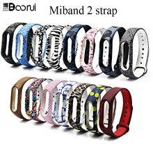 BOORUIใหม่Mi Band 2 Miband 2สายที่มีสีสันเปลี่ยนสายรัดข้อมือซิลิโคนสำหรับXiaomi Mi Banda 2 smartband