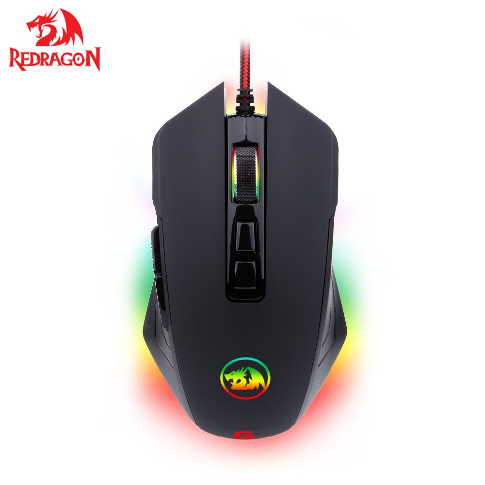 Redragon M715 High Precision Programmable <font><b>Gaming</b></font> <font><b>Mouse</b></font> <font><b>10000</b></font> <font><b>DPI</b></font> 8 Programmable Buttons with 7 RGB backlight image
