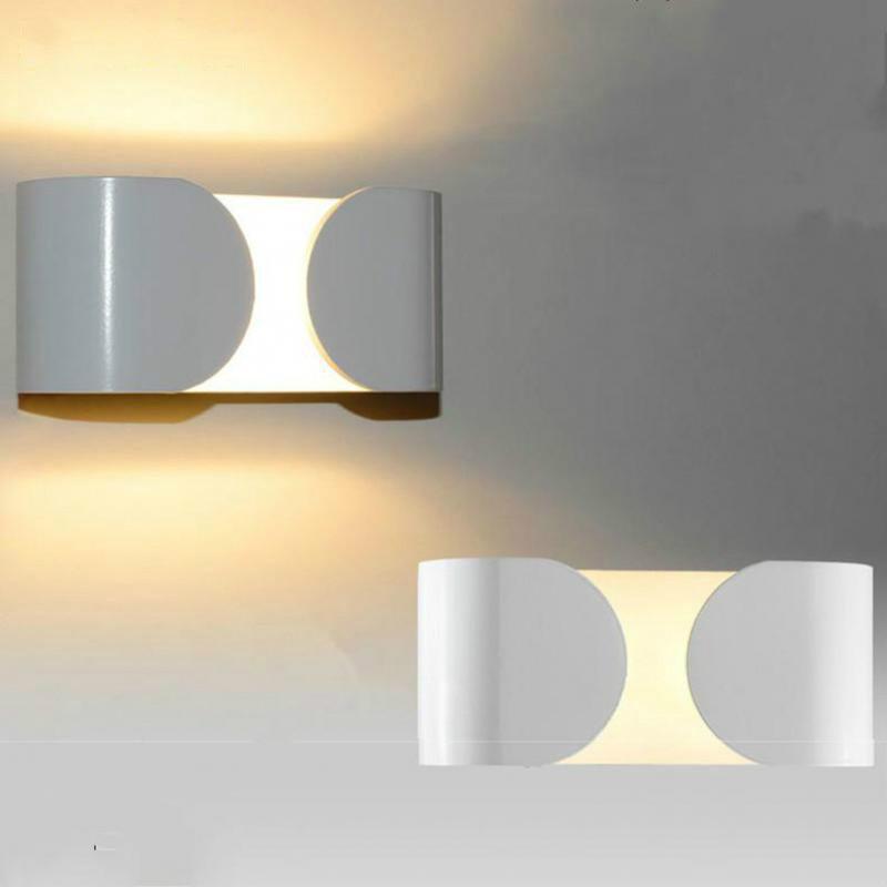 Lampes de mur LED en aluminium modernes pour salle de bain salon comme décoration applique lumière 90-260V