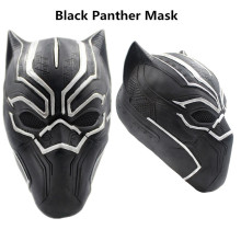 Movie Black Panther Vuxen Latex Mask Cosplay Kostymer Full Face Hjälm Masker Halloween Masquerade Rekvisita