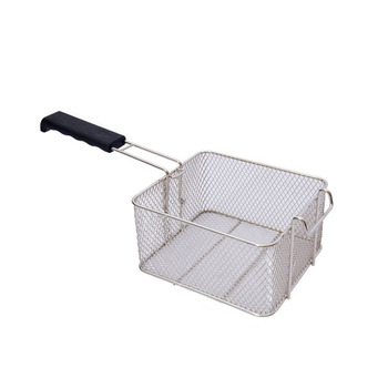 Hot Sale Stainless Steel Oil Fried Chips Fish Nuggets Fry Food Kitchen Cook Pan Deep Fat Fryer Basket flyswatter