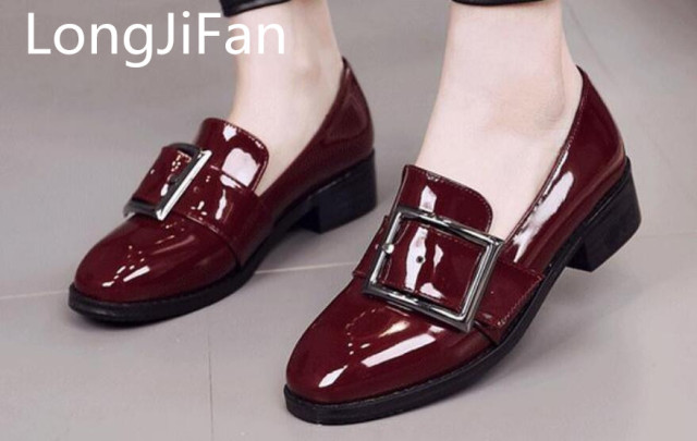 cde8b92286b US $36.0 | The new spring 2017 coarse documentary shoes coach patent  leather shoes LongJiFan-in Women's Pumps from Shoes on Aliexpress.com |  Alibaba ...