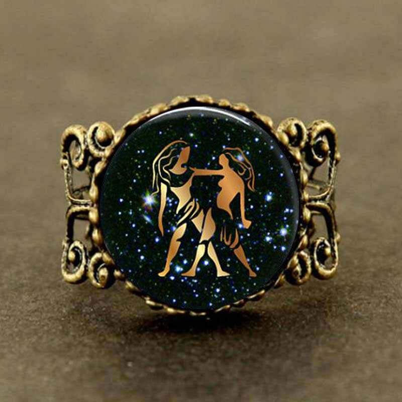 Scorpio Pendant Necklace Vintage Bronze Chain Statement Necklace Handmade Jewelry Gifts Lightrain 12 Constellations