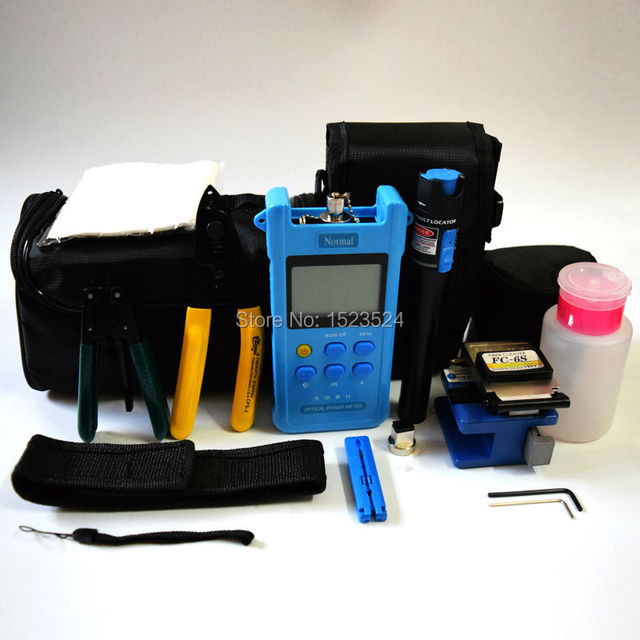 17 в 1 FTTH волоконно-оптический набор инструментов с волоконно-тесак - 70 ~ + 10dBm оптический измеритель мощности визуальный Lcator 5 км
