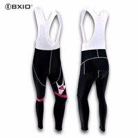 BXIO Winter Bike Long Bib Pant Seamless Stitching Cycling Clothing 5D Pad Women Bicycle Trousers Invierno