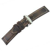 22 мм ремешок из натуральной кожи для часов Seiko SKX007 SKX009 SKX011