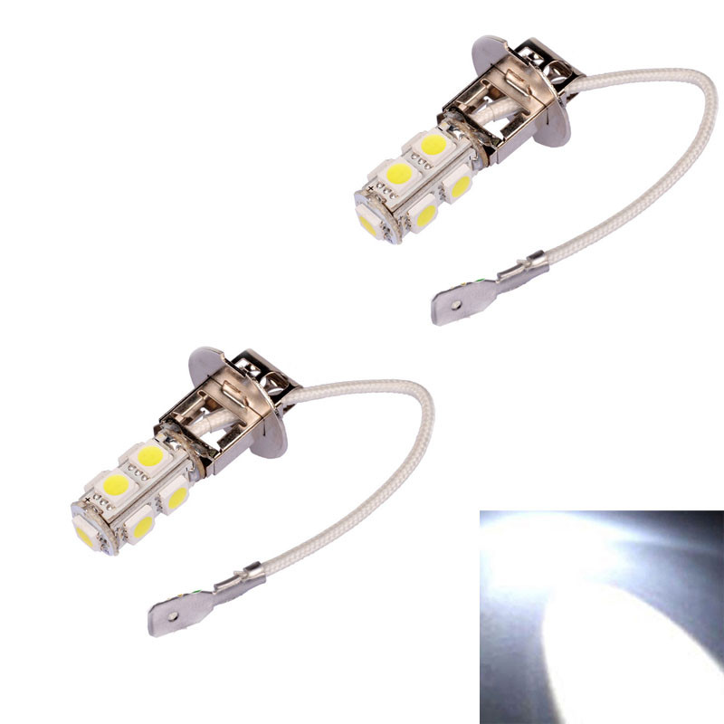 Car-styling 2x H3 9 LED SMD Car Auto Xenon White Fog Driving Head Light Lamp Bulb 801 LEVERT DROPSHIP