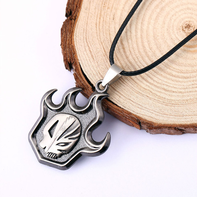 Anime Bleach Necklace Skull False Fire Silver Collar