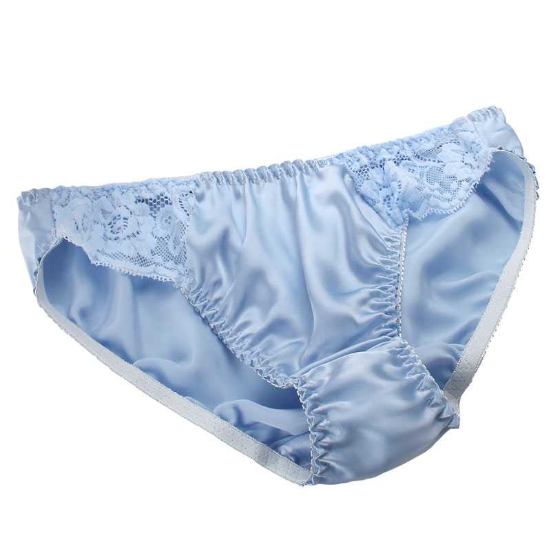 New Arrival Fashion Ladies 100% Silk Lace Panties Female Antibiotic Women low-Rise Briefs Sweat Absorbing Breathable HK02