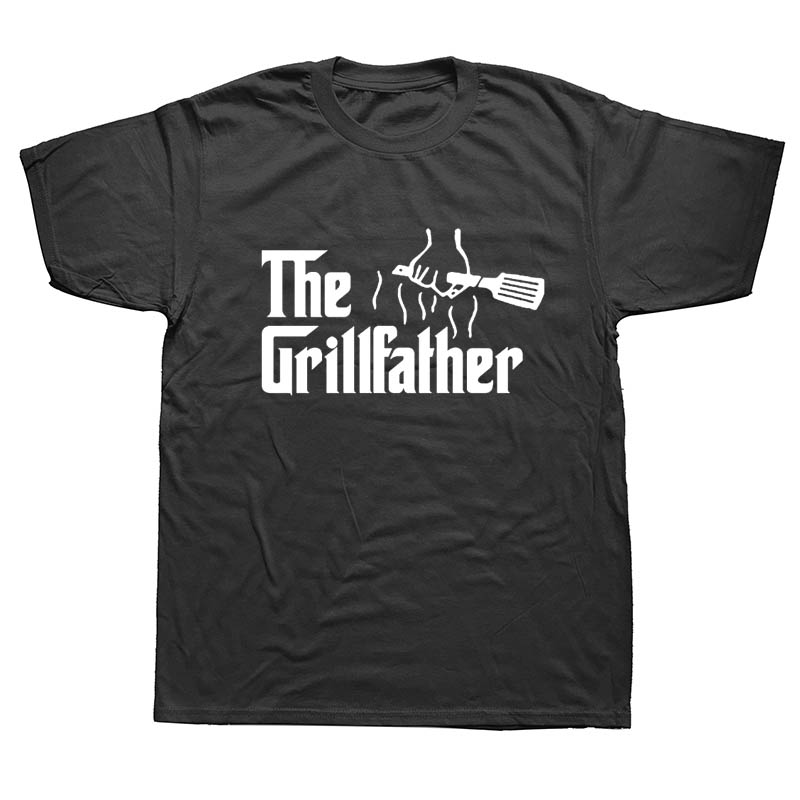 New Cotton Hip Hop Fashion T Shirt The Grillfather Barbeque And Grilling Male BBQ Tees