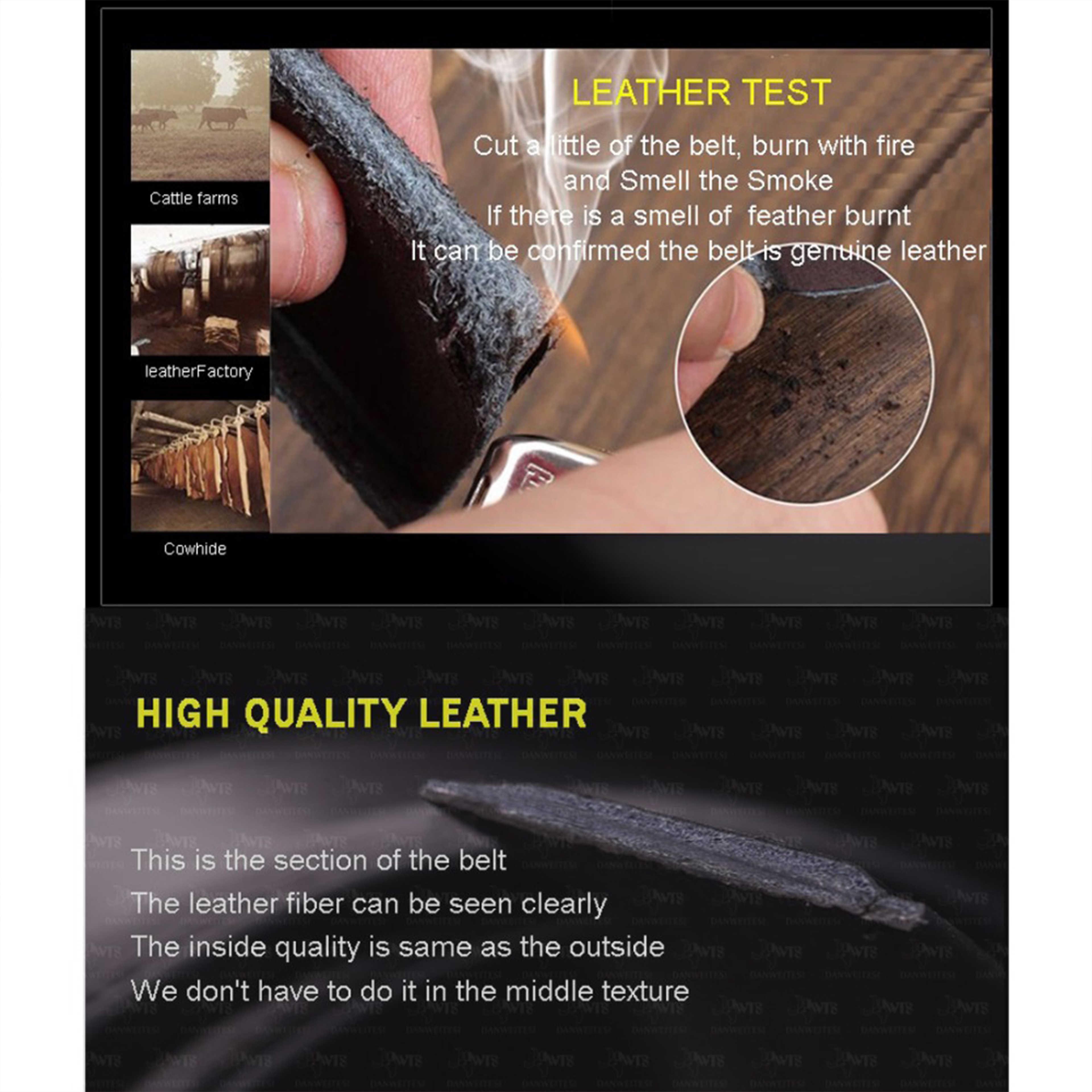 Мужской ремень с автоматическим зажимом [DWTS], черный пояс из натуральной кожи высшего качества, с пряжкой автомат, аксессуар для мужчин