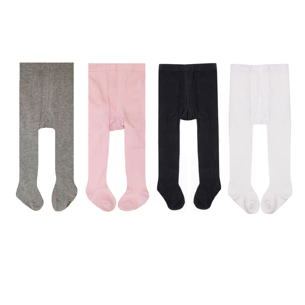 4pc/lot Baby Spring/Autumn Tights Cotton Baby Girl Pantyhose Kid Infant Knitted Collant Tights Soft Infant Clothing