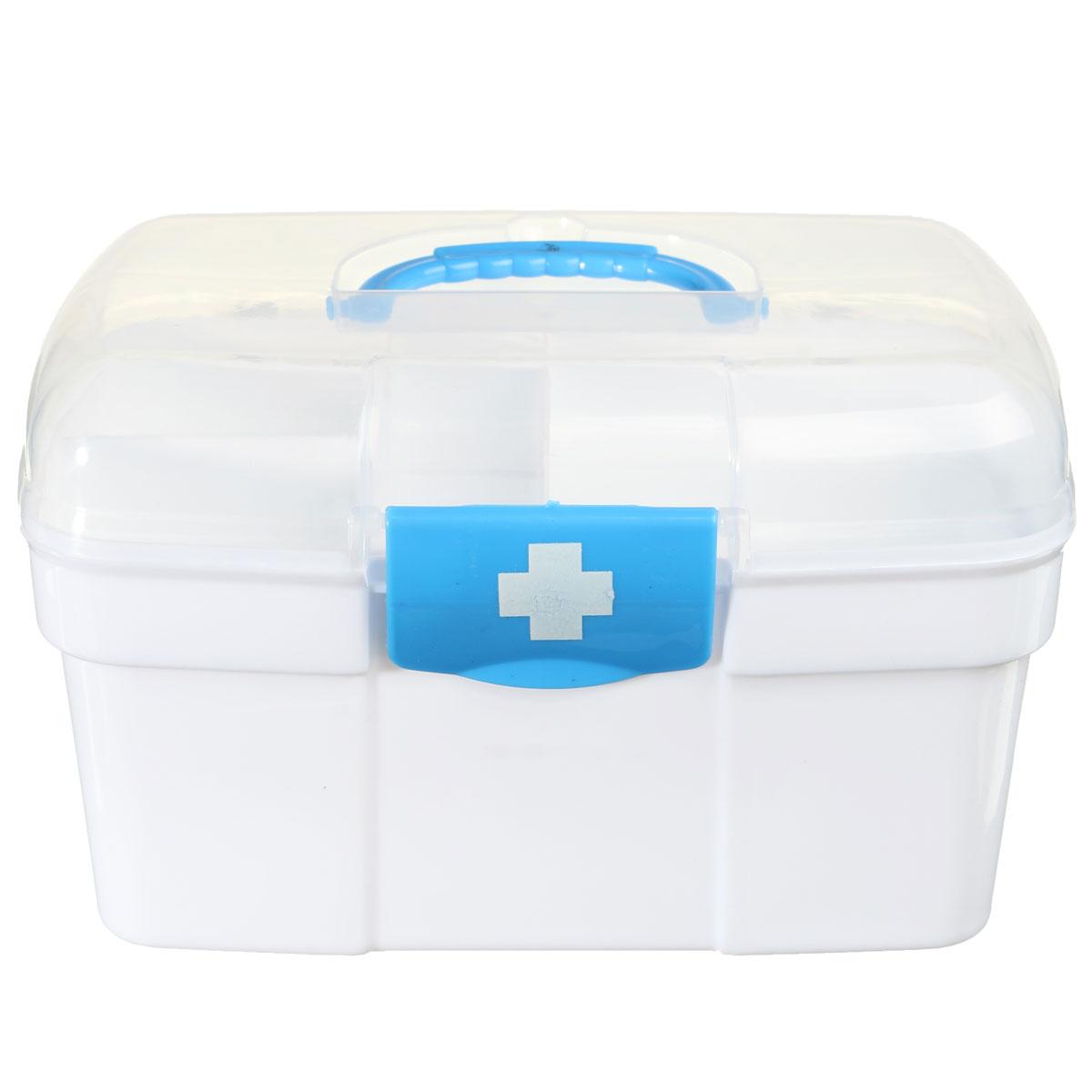 NOVA Safurance 2 Camadas armário de Remédios Em Casa Kit de Primeiros Socorros de Plástico Titular Caixa de Armazenamento de Kits De Emergência de Segurança de Segurança