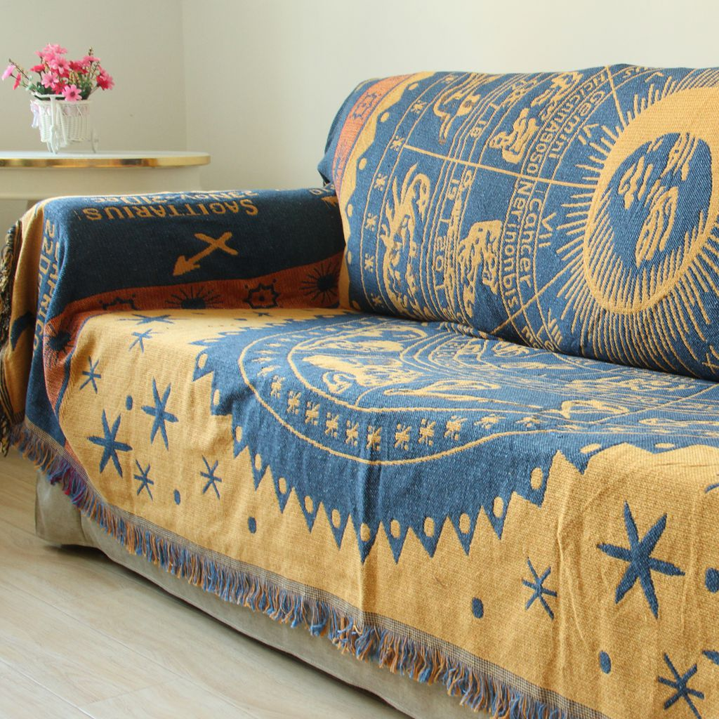 Blanket Sofa Cover: Aliexpress.com : Buy Cotton Linen Bohemia Soft Three Layer