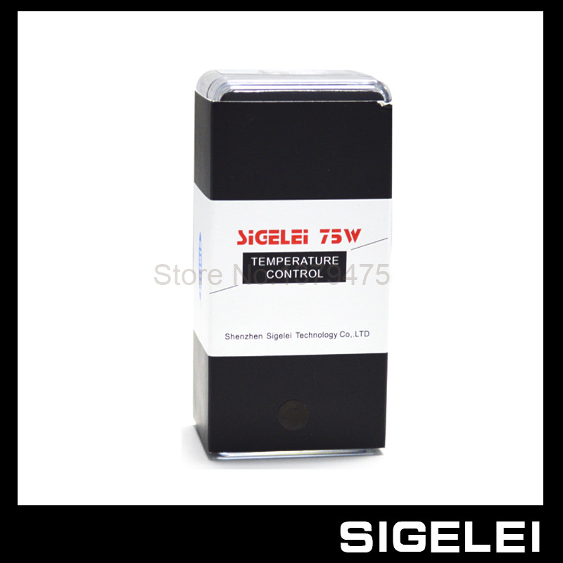 New Arrival 100% Original Sigelei 75W Temp Control Box Mod 18650 Mechanical Battery Mod Sigelei 75W TC Mod 1Pcs/Lot original smy 75w mini tc box mod