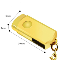 gold/Silver Metal USB 3.0 flash drive 128 GB High Speed pendrive 128GB flash drive usb flash 3.0 keyring pen drive
