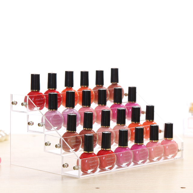 M Acrylic Nail Polish Organizer Storage Rack Detachable Shelves Safe Cosmetic