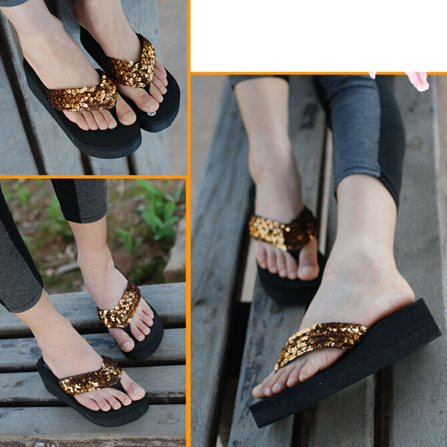 a3b0d5029f9 Summer Shoes Women Platform Sandals Wedge Flip Flops Sapato Feminino High  Heel slippers Plataforma Chanclas-in Low Heels from Shoes on Aliexpress.com  ...