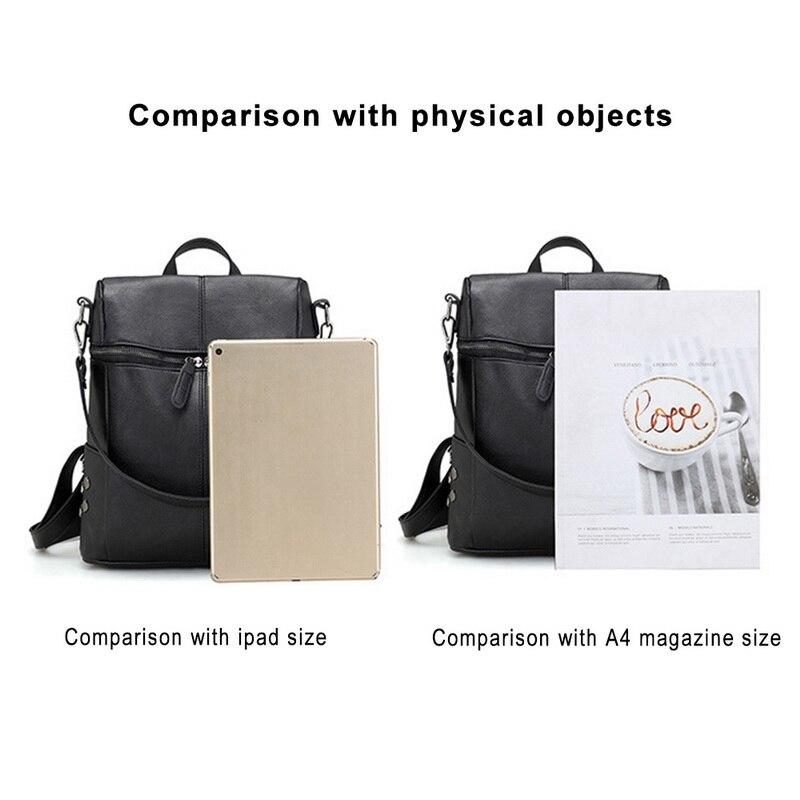 PU Leather Zipper Top Shoulder Bag Backpack - womens-school-backpacks, womens-leather-bags, womens-leather-backpacks, womens-bags, mens-leather-bags, mens-leather-backpacks, google-feed-new