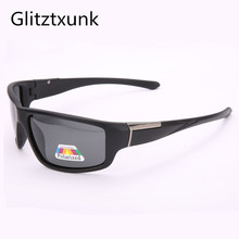Glitztxunk Sunglasses Men Polarized Square Retro Sport Sun Glasses for Black Outdoor Driving Male Eyewear Oculos Gafas De So