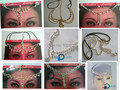 head chain hair jewelry band forehead decoration draping headdress bridal scarf hijab accessory mix styles 12pc/lot free ship