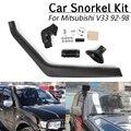 1Set Auto ABS Kunststoff Lufteinlässe Teile Set Auto Schnorchel Kit für Mitsubishi Pajero/Shogun Schnorchel Kit 90  99|Luftansaugung|   -