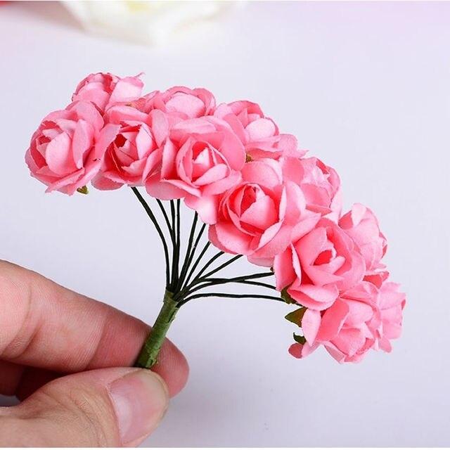 144PCS Artificial Paper Rose Flower Buds Mini Bouquet Party Wedding ...