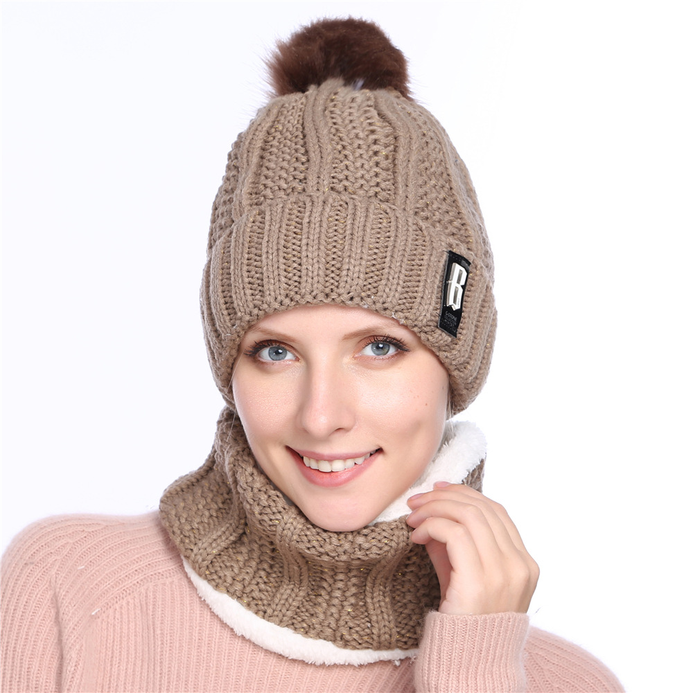 30b5e413 Pom Pom Hat Women Beanie Hat Womens Beanies Black Pink Winter Hat Solid  Faux Fur Hat and Scarf for Women Skullies Beanies-in Skullies & Beanies  from Apparel ...