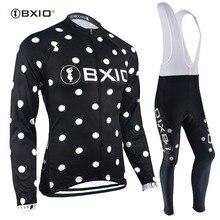 BXIO Women Winter Thermal Fleece Long Sleeve Bike Jersey Inv