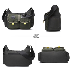 Image 3 - Men Army Messenger Bag Waterproof Nylon Satchel Shoulder Bag Casual Travel Crossbody Bags For Male Belt Handbag Man XA167ZC