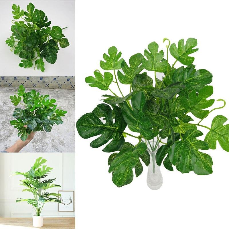 Моделирование растительная листва Декор Большой 5 головы зеленый дом отель реквизит орнамент
