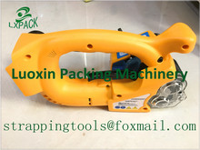 LX-PACK Lowest factory price Portable Electric Battery Powered Plastic Strapping Tool Friction Welding Strapping Machine