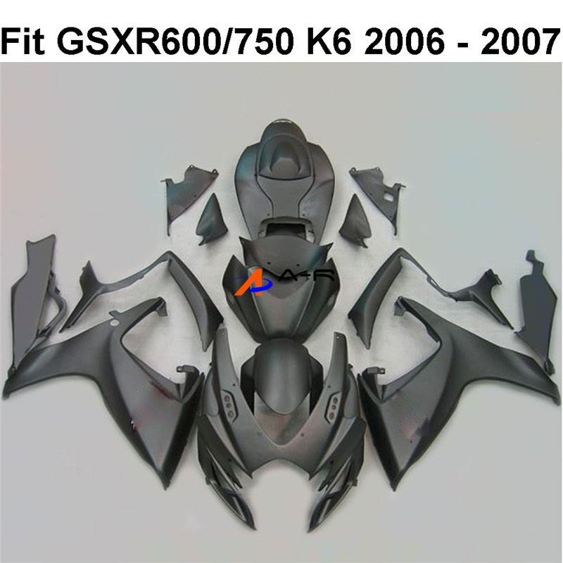 ABS Injection <font><b>Fairing</b></font> Kit Bodywork for Suzuki GSXR600 GSX750 <font><b>GSXR</b></font> GSX-R <font><b>600</b></font> 750 K6 GSX-R600 GSX-R750 <font><b>2006</b></font> 2007 <font><b>Fairings</b></font> Kit image