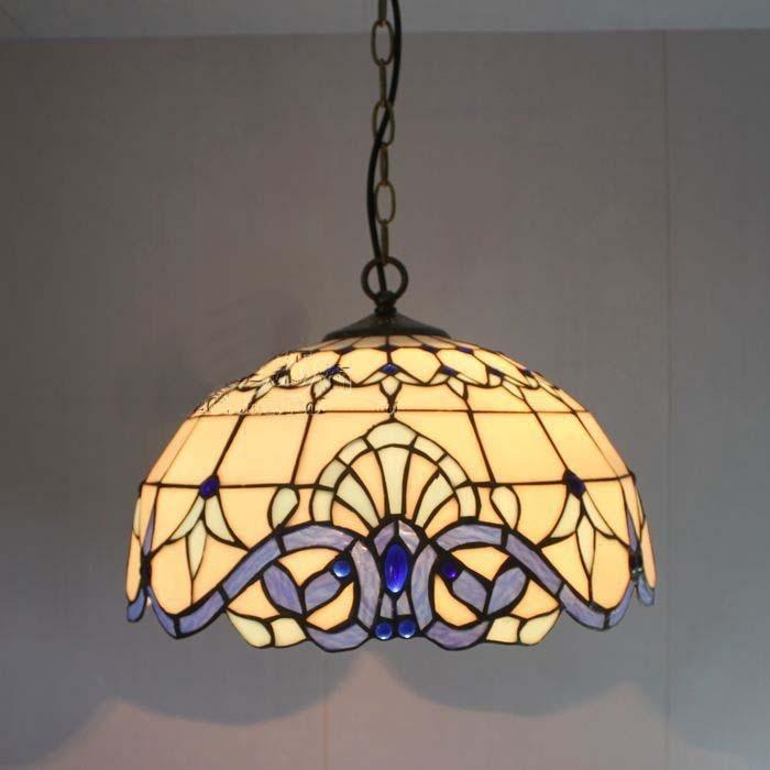 Continental Tian Tiffany glass chandeliers bedroom lamp restaurant lighting flowers DIA 40 CM H 100 CM national beauty tian xiang lighting 8128
