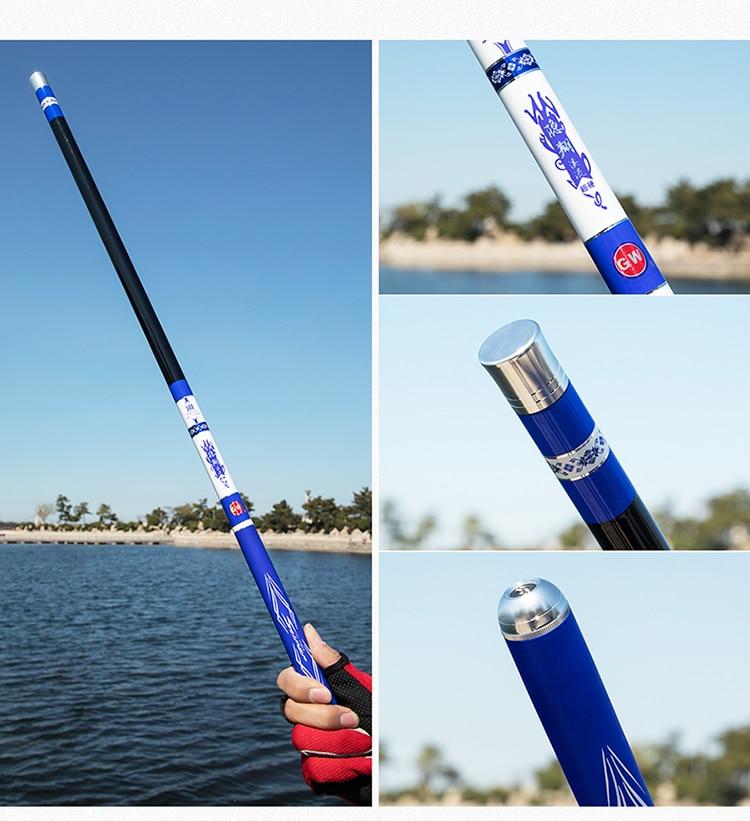 Pólo Seção Curta Canne a Peche equipamento de pesca Pesca