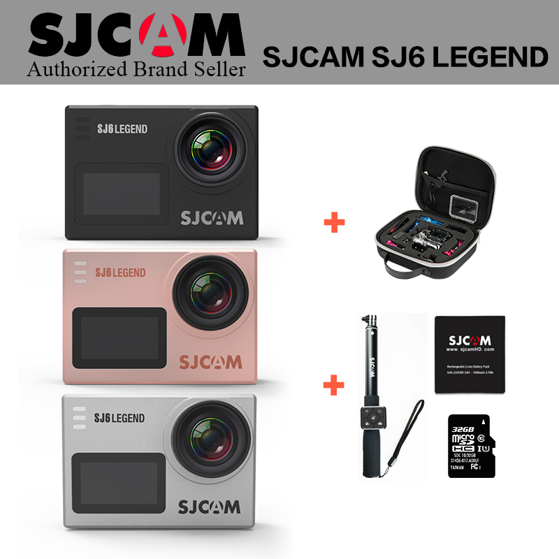 New Arrival ~ SJCAM SJ6 LEGEND wifi Notavek 96660 4K 24fps Ultra HD Waterproof Action Camera 2.0 Touch Screen Remote Sports DV in stock sjcam legend sj6 wifi notavek 96660 4k 24fps ultra hd waterproof camera action cam 2 0 touch screen remote sport dv