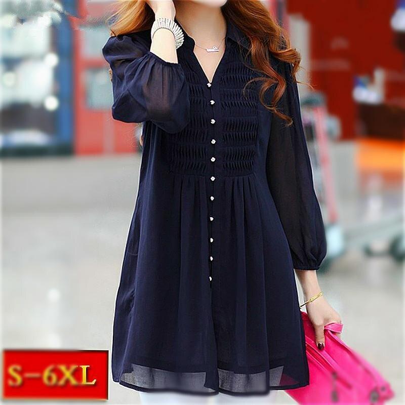 5bed7c8ff77915 Tunics Women Tops tunic ruffle blouse 6xl Plus Size Lace Womens Clothing  Shirt Long Sleeve Shirts
