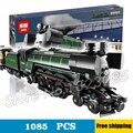 1085 шт. Новый 21005 Создатель Классическая Изумрудный Ночной Поезд Строительство Комплект 3D Модель Блоки Игрушки Кирпичи Совместимы с Lego