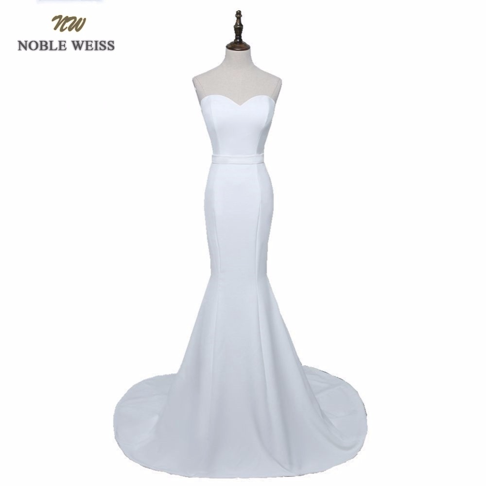 NOBLE WEISS Mermaid Evening Dresses Long 2019 High Quality Satin Arabic Custom Made Evening Gowns Party Formal Dress