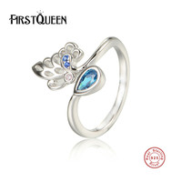 FirstQueen 925 Sterling Silver Rings For Women Wedding With Diamond Fine Jewelry Factory Wholesale