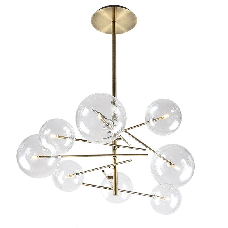 Современные подвесные светильники светодио дный золото AC90 261V светильник suspendu Глобус прозрачное стекло тень висит огни luminaria pendente фойе C3