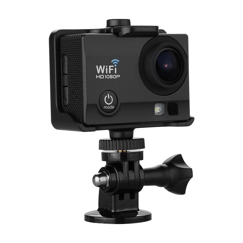 "MOOL 2"" 12MP Full HD 1080P WiFi Sports Kamera Helm Action Cam Camcorder DV +RC Watch"