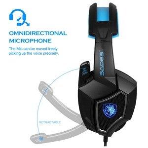 Image 3 - SADES auriculares de portátil para Gaming USB con micrófono, dispositivo Original, luminoso, 7,1