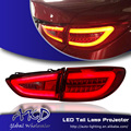 One-Stop Shopping Styling para Luzes Traseiras Mazda6 2014-2015 Novo Mazda 6 Cauda LED Luz Traseira LEVOU lâmpada DRL + Freio + Parque + Sinal
